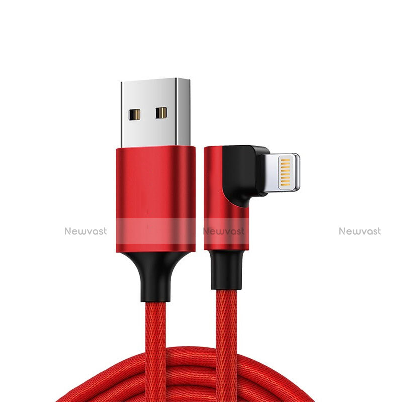Charger USB Data Cable Charging Cord C10 for Apple iPhone SE (2020) Red