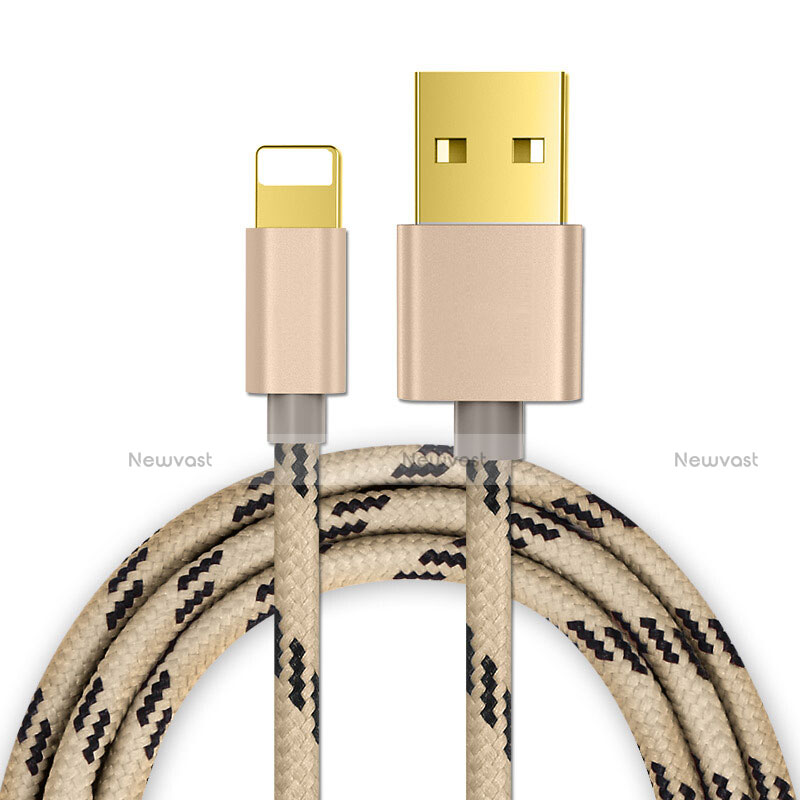 Charger USB Data Cable Charging Cord L01 for Apple iPhone SE (2020) Gold