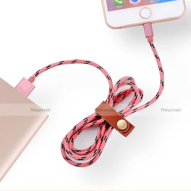 Charger USB Data Cable Charging Cord L05 for Apple iPhone SE (2020) Pink