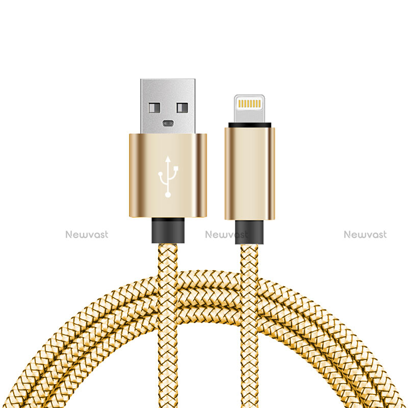Charger USB Data Cable Charging Cord L07 for Apple iPhone SE (2020) Gold