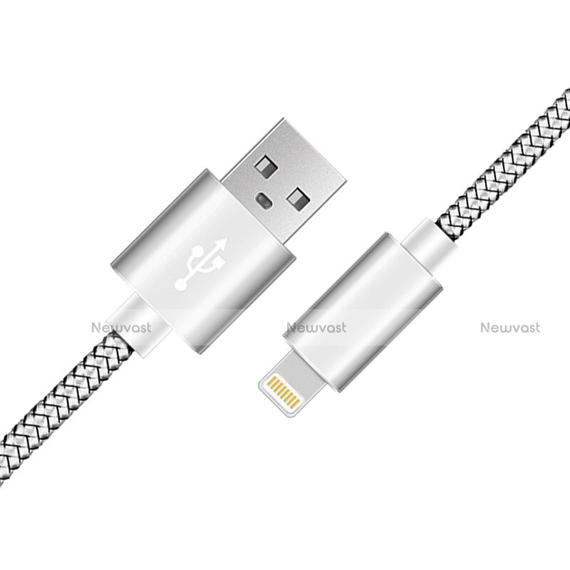 Charger USB Data Cable Charging Cord L07 for Apple iPhone SE (2020) Silver