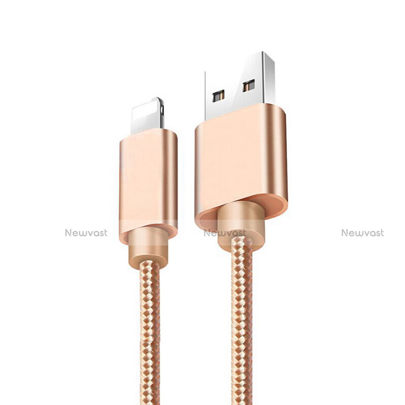 Charger USB Data Cable Charging Cord L08 for Apple iPhone SE (2020) Gold