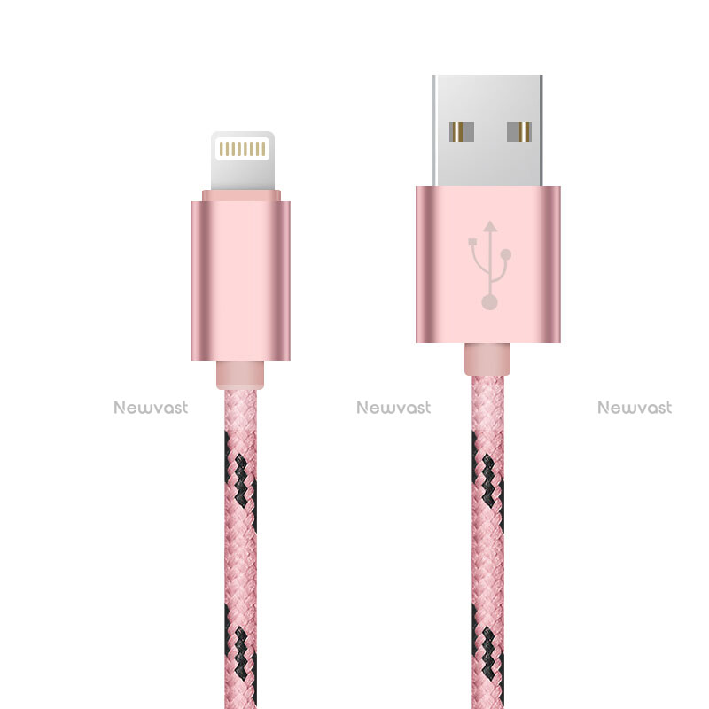 Charger USB Data Cable Charging Cord L10 for Apple iPhone SE (2020) Pink