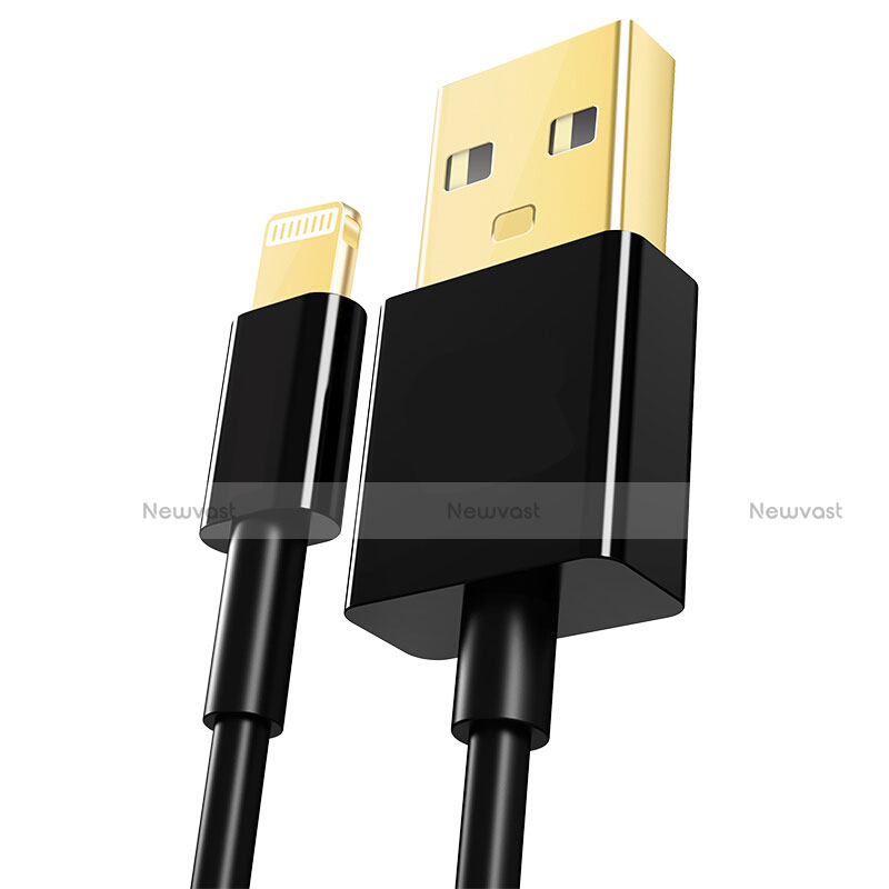Charger USB Data Cable Charging Cord L12 for Apple iPhone SE (2020) Black