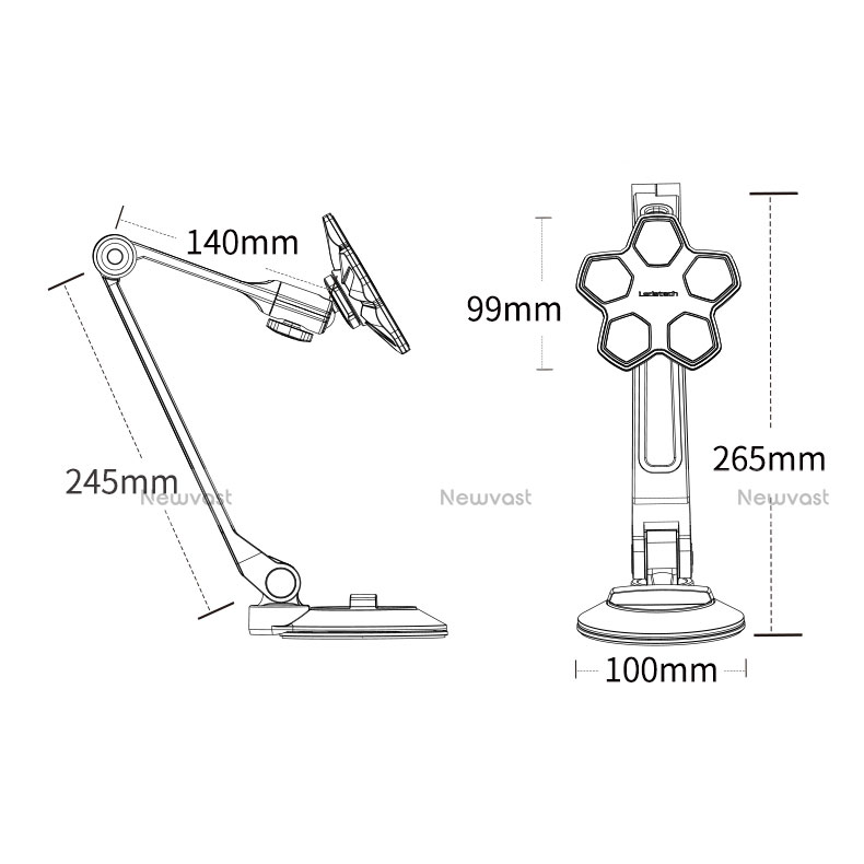 Flexible Tablet Stand Mount Holder Universal H14 for Apple New iPad 9.7 (2018) White