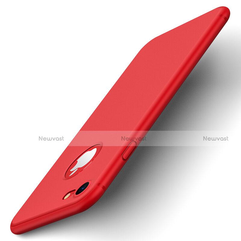 Hard Rigid Plastic Matte Finish Back Cover for Apple iPhone SE (2020) Red