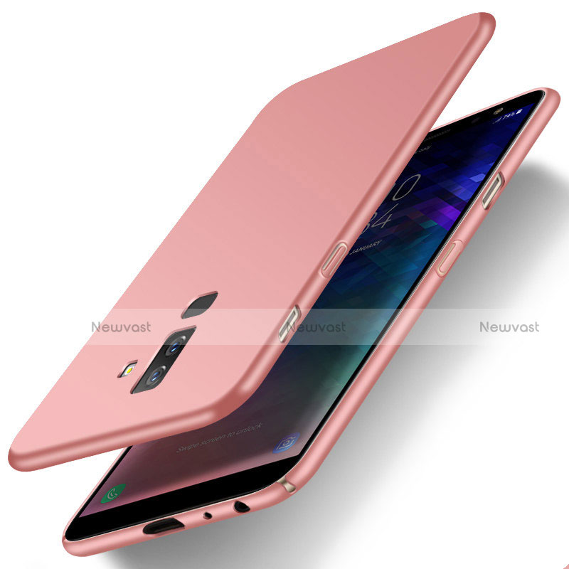 Hard Rigid Plastic Matte Finish Back Cover M04 for Samsung Galaxy A6 Plus Rose Gold