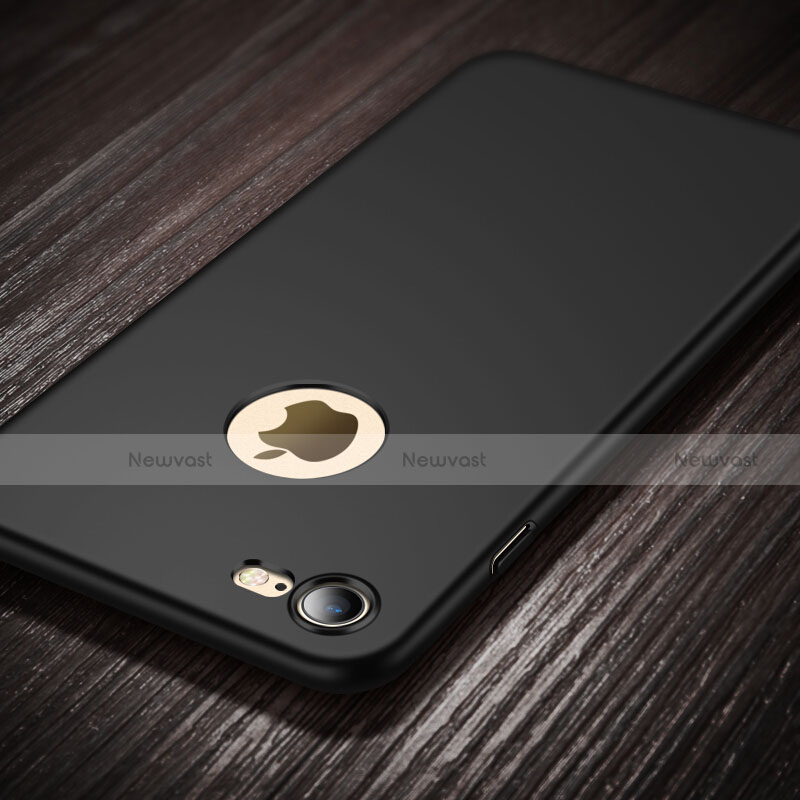 Hard Rigid Plastic Matte Finish Back Cover with Finger Ring Stand for Apple iPhone SE (2020) Black