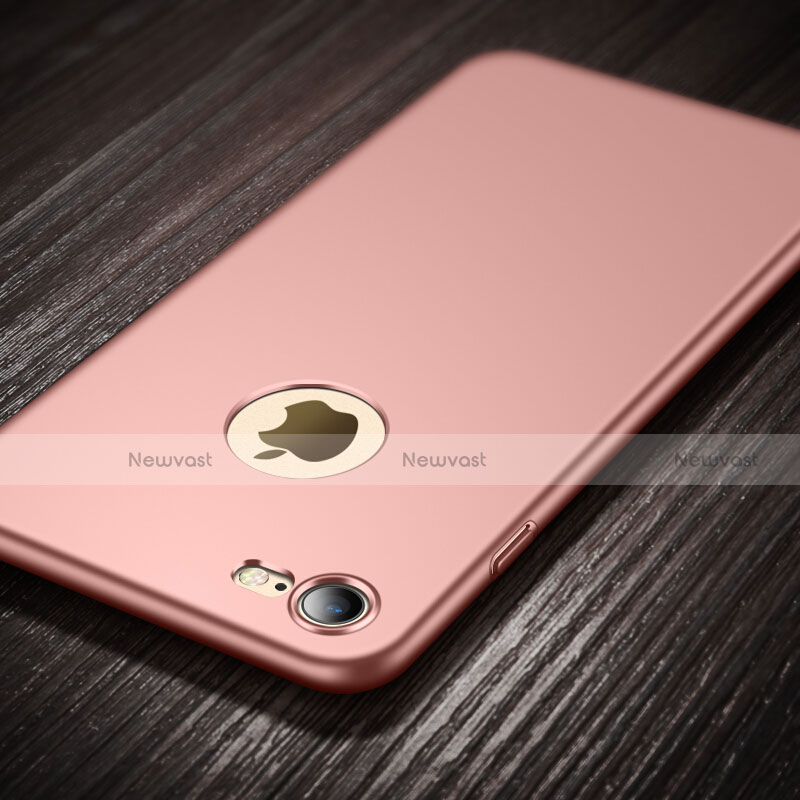 Hard Rigid Plastic Matte Finish Back Cover with Finger Ring Stand for Apple iPhone SE (2020) Pink