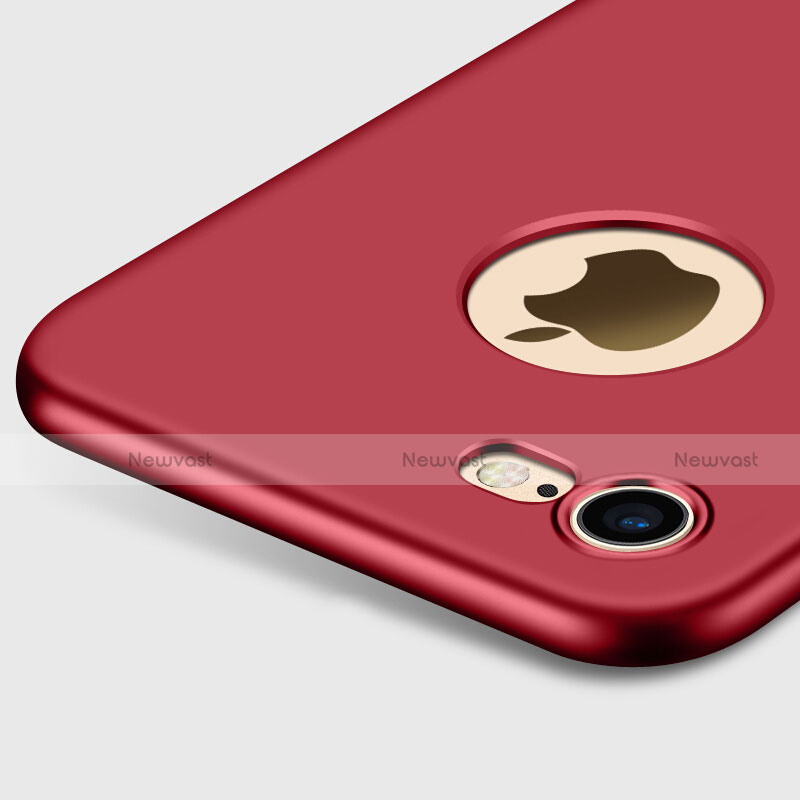 Hard Rigid Plastic Matte Finish Back Cover with Finger Ring Stand for Apple iPhone SE (2020) Red