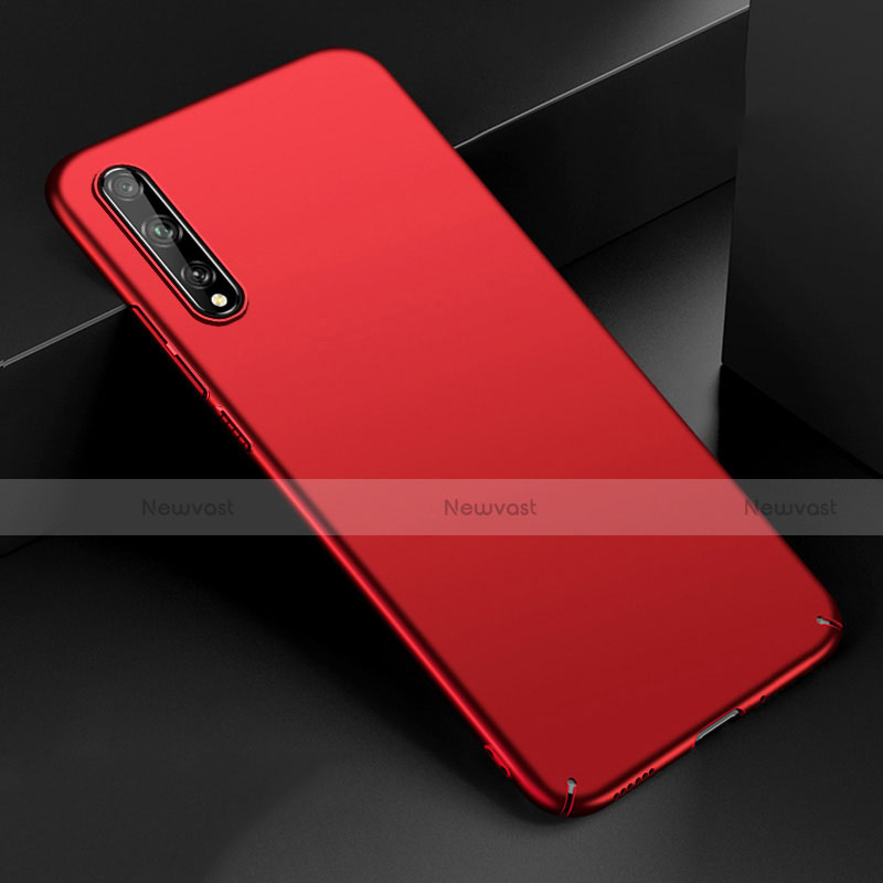 Hard Rigid Plastic Matte Finish Case Back Cover M01 for Huawei Enjoy 10S Red