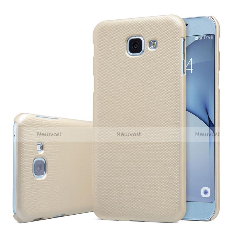 Hard Rigid Plastic Matte Finish Case Back Cover M01 for Samsung Galaxy A8 (2016) A8100 A810F Gold