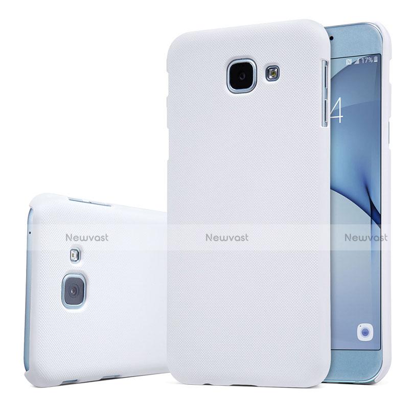 Hard Rigid Plastic Matte Finish Case Back Cover M01 for Samsung Galaxy A8 (2016) A8100 A810F White
