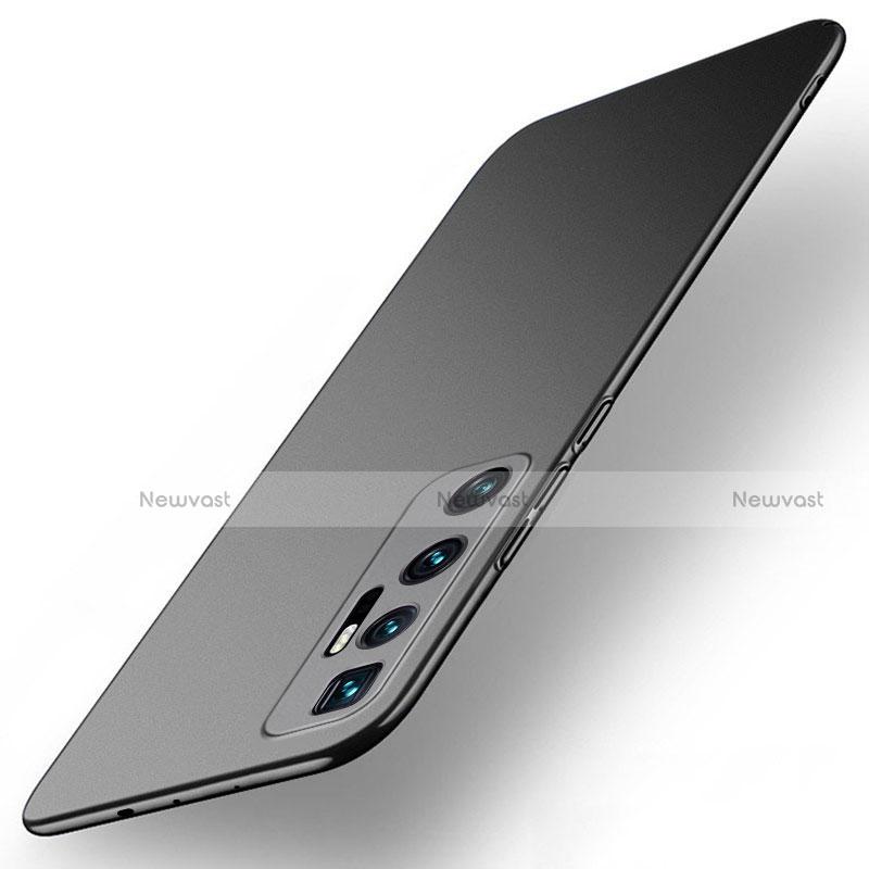 Hard Rigid Plastic Matte Finish Case Back Cover M01 for Xiaomi Mi 10 Ultra Black