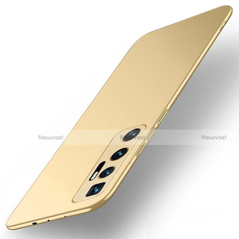 Hard Rigid Plastic Matte Finish Case Back Cover M01 for Xiaomi Mi 10 Ultra Gold