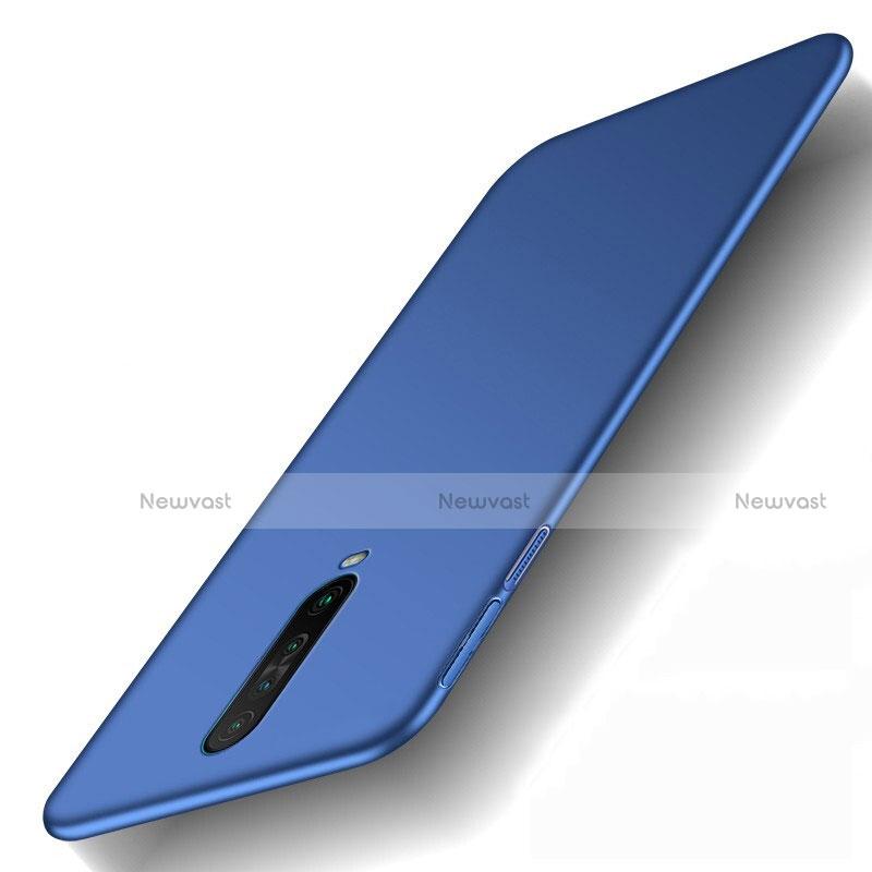 Hard Rigid Plastic Matte Finish Case Back Cover M01 for Xiaomi Redmi K30 5G Blue