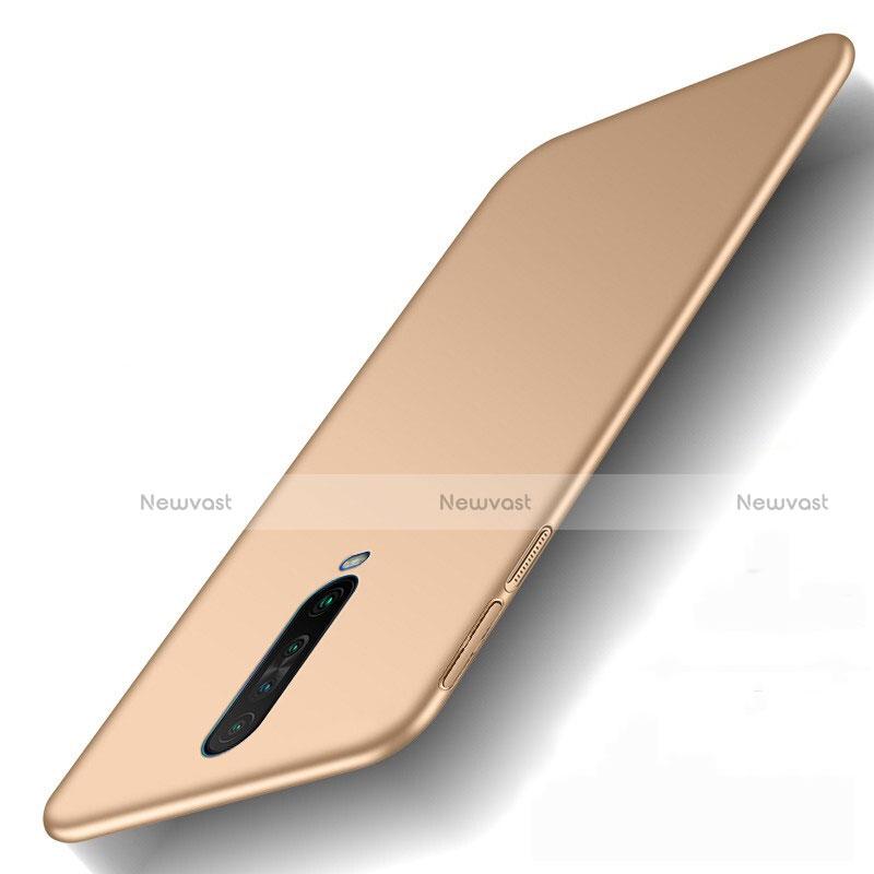 Hard Rigid Plastic Matte Finish Case Back Cover M01 for Xiaomi Redmi K30 5G Gold