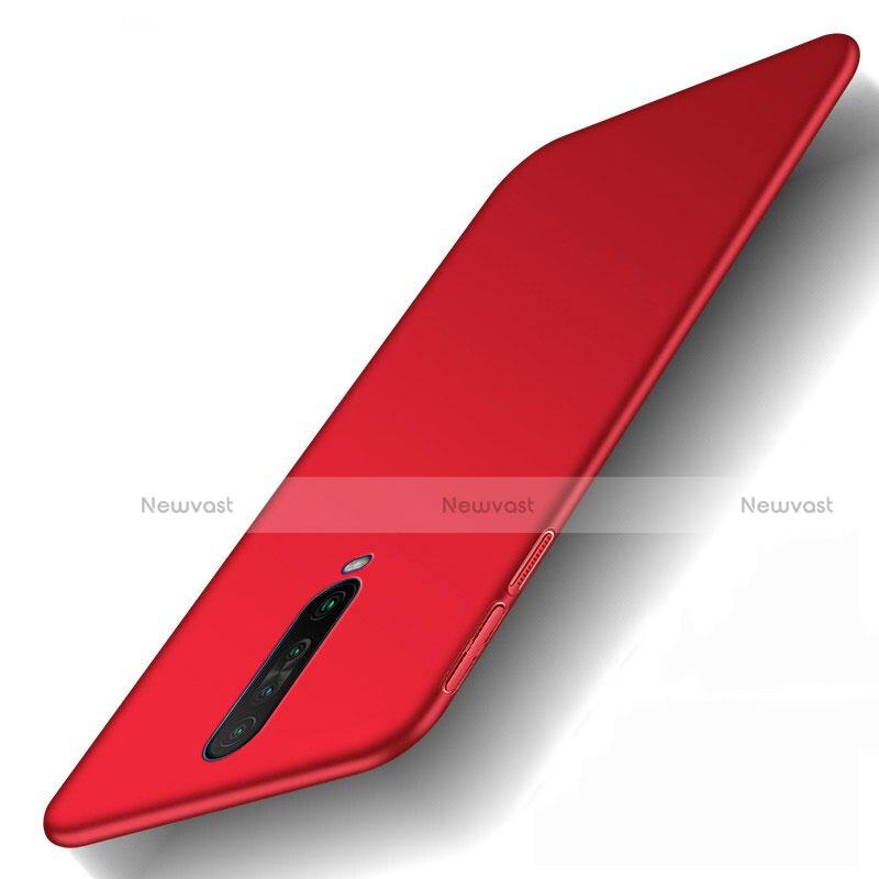 Hard Rigid Plastic Matte Finish Case Back Cover M01 for Xiaomi Redmi K30 5G Red
