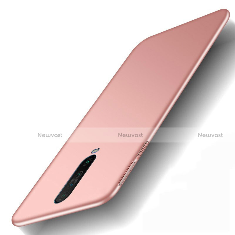 Hard Rigid Plastic Matte Finish Case Back Cover M01 for Xiaomi Redmi K30 5G Rose Gold