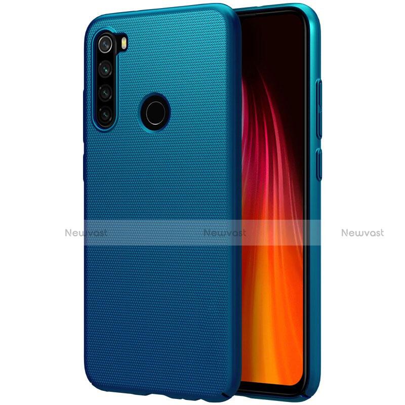 Hard Rigid Plastic Matte Finish Case Back Cover M01 for Xiaomi Redmi Note 8 Blue