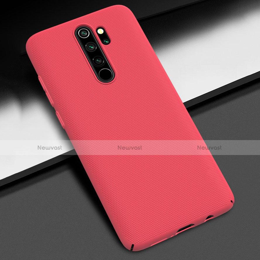 Hard Rigid Plastic Matte Finish Case Back Cover M01 for Xiaomi Redmi Note 8 Pro Red