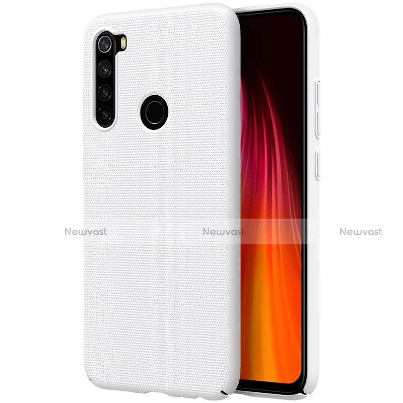 Hard Rigid Plastic Matte Finish Case Back Cover M01 for Xiaomi Redmi Note 8 White