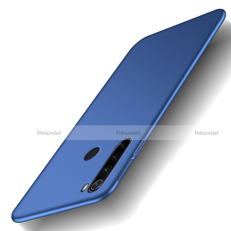 Hard Rigid Plastic Matte Finish Case Back Cover M02 for Xiaomi Redmi Note 8 Blue