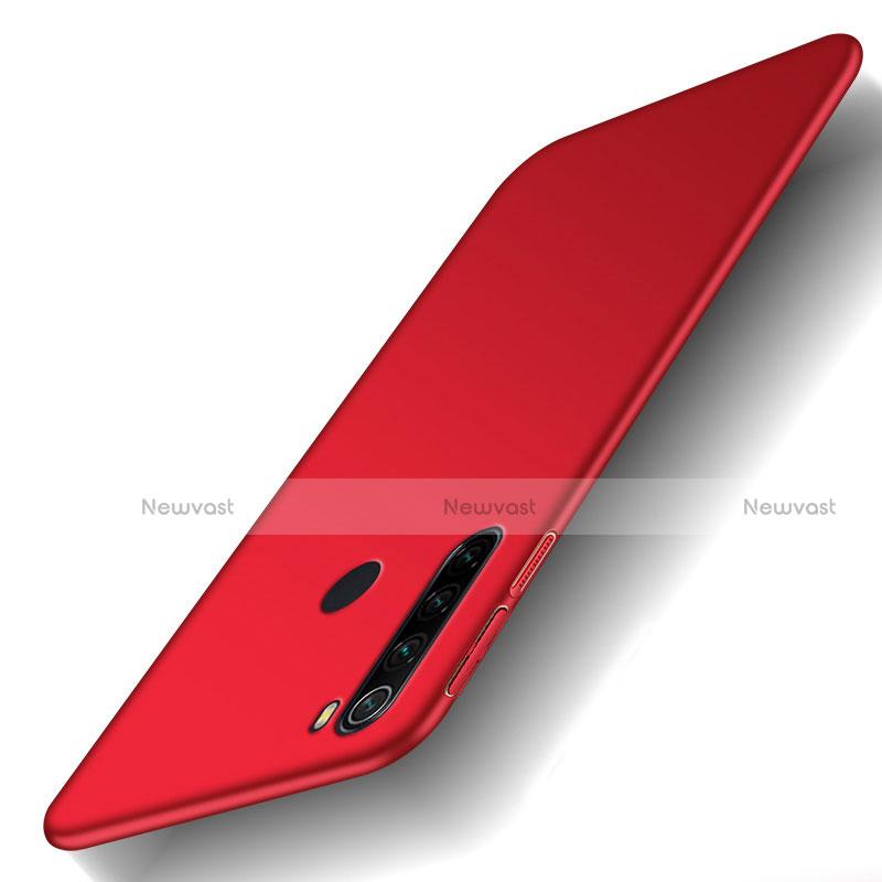 Hard Rigid Plastic Matte Finish Case Back Cover M02 for Xiaomi Redmi Note 8 Red