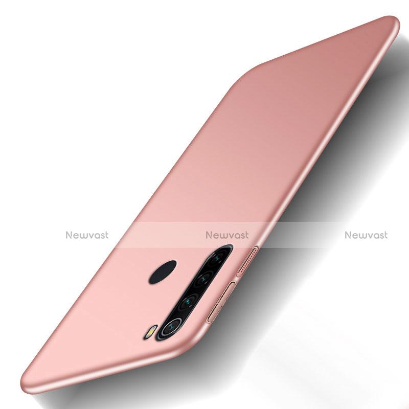 Hard Rigid Plastic Matte Finish Case Back Cover M02 for Xiaomi Redmi Note 8 Rose Gold