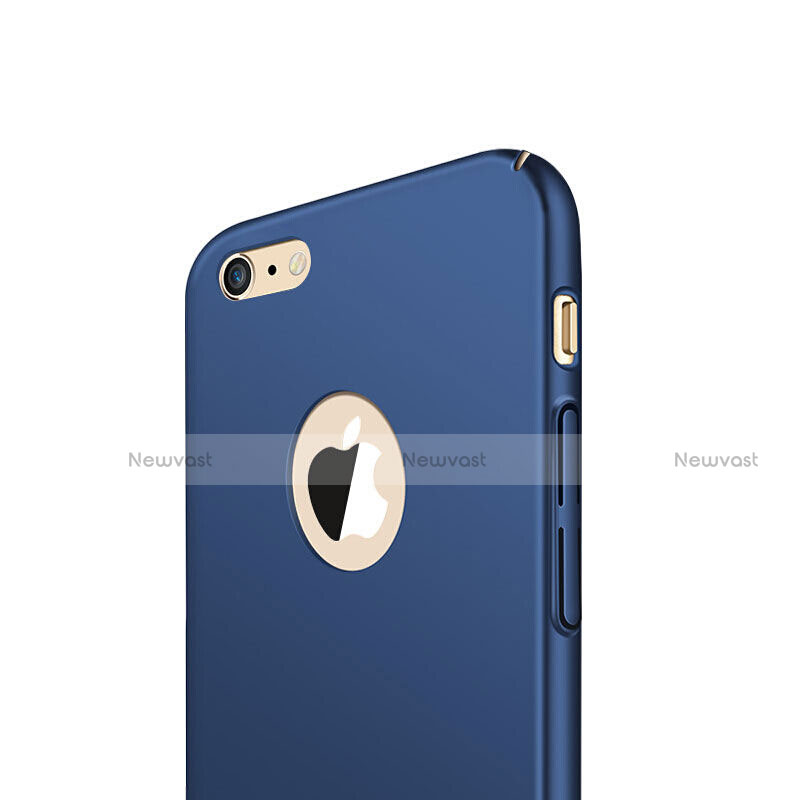 Hard Rigid Plastic Matte Finish Case Cover with Finger Ring Stand for Apple iPhone SE (2020) Blue
