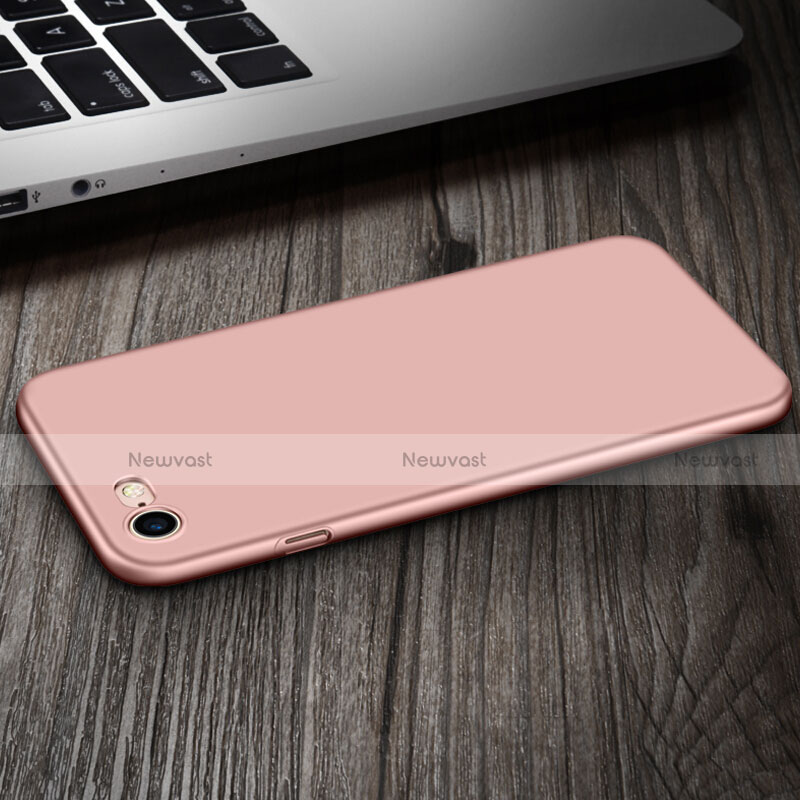 Hard Rigid Plastic Matte Finish Case with Finger Ring Stand for Apple iPhone SE (2020) Pink