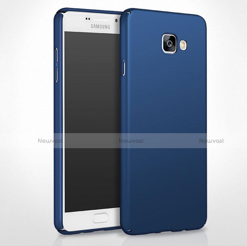 Hard Rigid Plastic Matte Finish Cover for Samsung Galaxy A8 (2016) A8100 A810F Blue