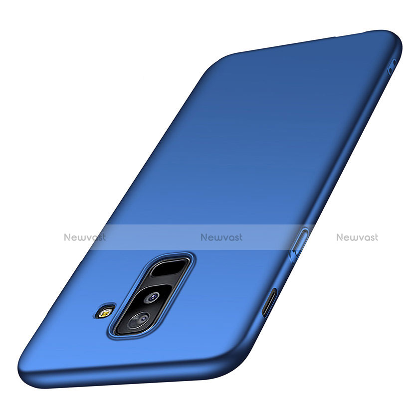Hard Rigid Plastic Matte Finish Cover M02 for Samsung Galaxy A6 Plus Blue