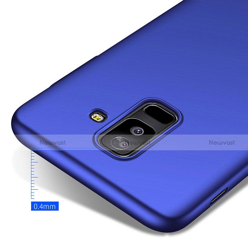 Hard Rigid Plastic Matte Finish Cover M03 for Samsung Galaxy A6 Plus Blue