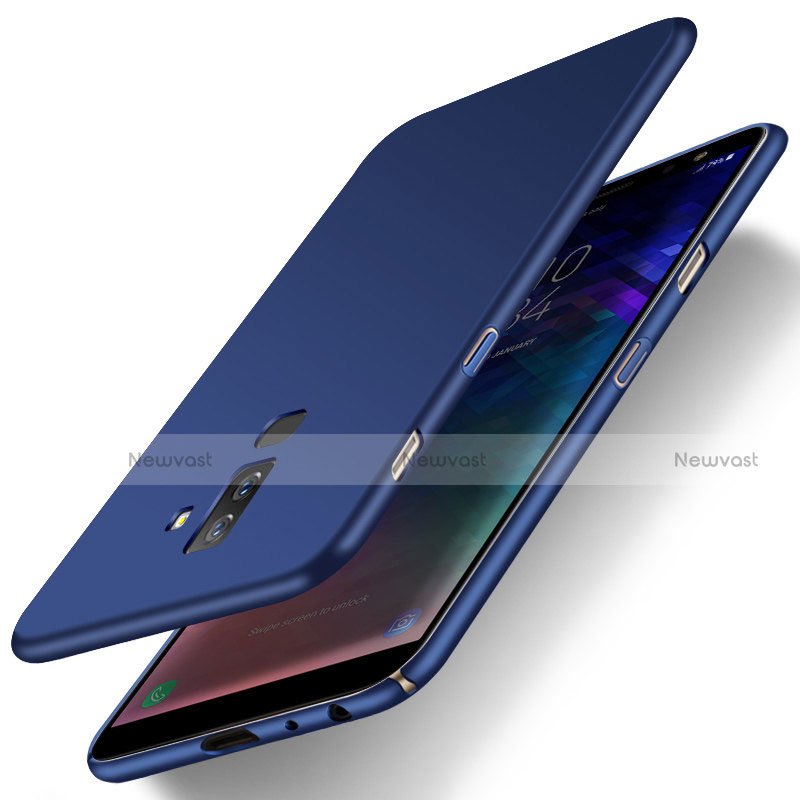 Hard Rigid Plastic Matte Finish Cover M04 for Samsung Galaxy A6 Plus Blue