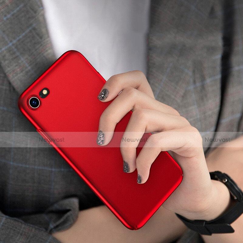 Hard Rigid Plastic Matte Finish Cover M10 for Apple iPhone SE (2020) Red