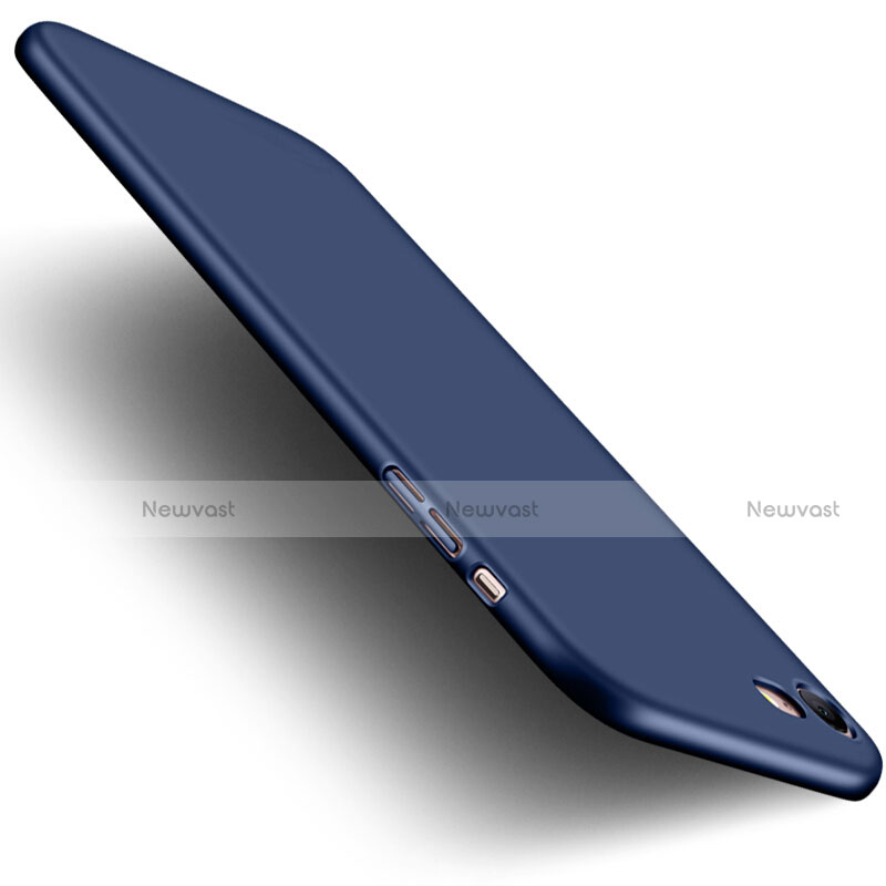 Hard Rigid Plastic Matte Finish Cover with Finger Ring Stand for Apple iPhone SE (2020) Blue