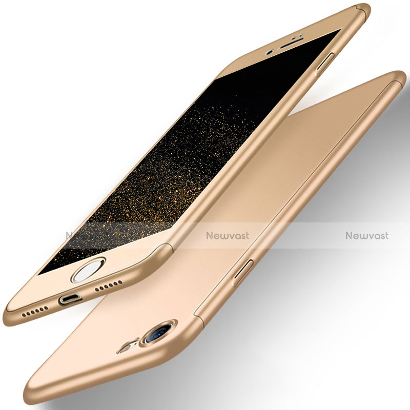 Hard Rigid Plastic Matte Finish Front and Back Case 360 Degrees for Apple iPhone SE (2020) Gold
