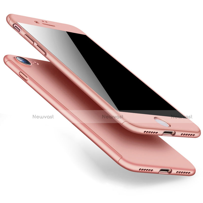 Hard Rigid Plastic Matte Finish Front and Back Case 360 Degrees for Apple iPhone SE (2020) Rose Gold