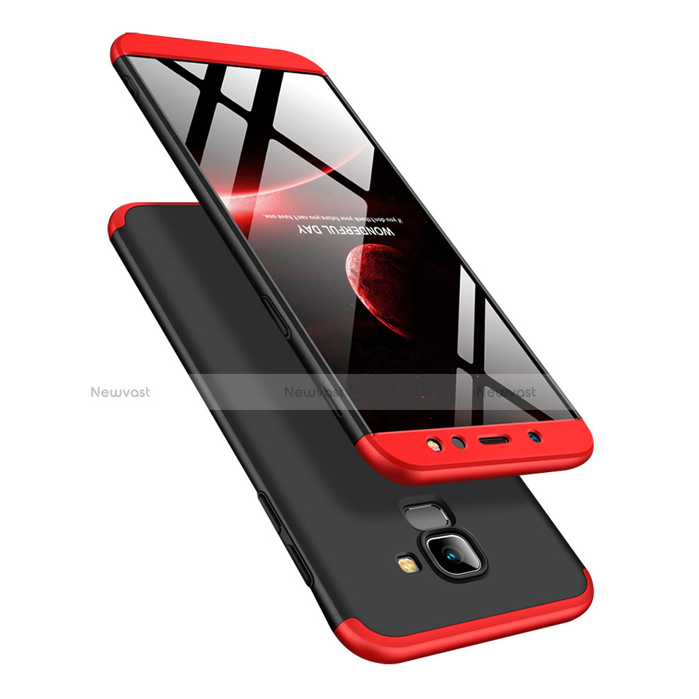 Hard Rigid Plastic Matte Finish Front and Back Cover Case 360 Degrees for Samsung Galaxy A6 (2018) Dual SIM