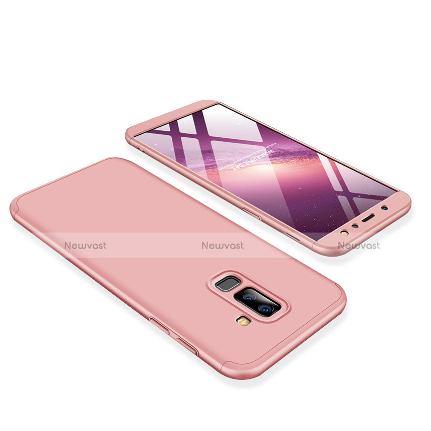 Hard Rigid Plastic Matte Finish Front and Back Cover Case 360 Degrees for Samsung Galaxy A6 Plus Pink