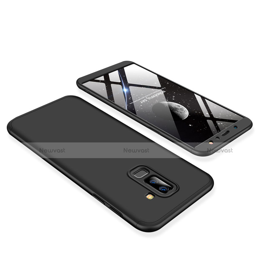 Hard Rigid Plastic Matte Finish Front and Back Cover Case 360 Degrees for Samsung Galaxy A9 Star Lite Black