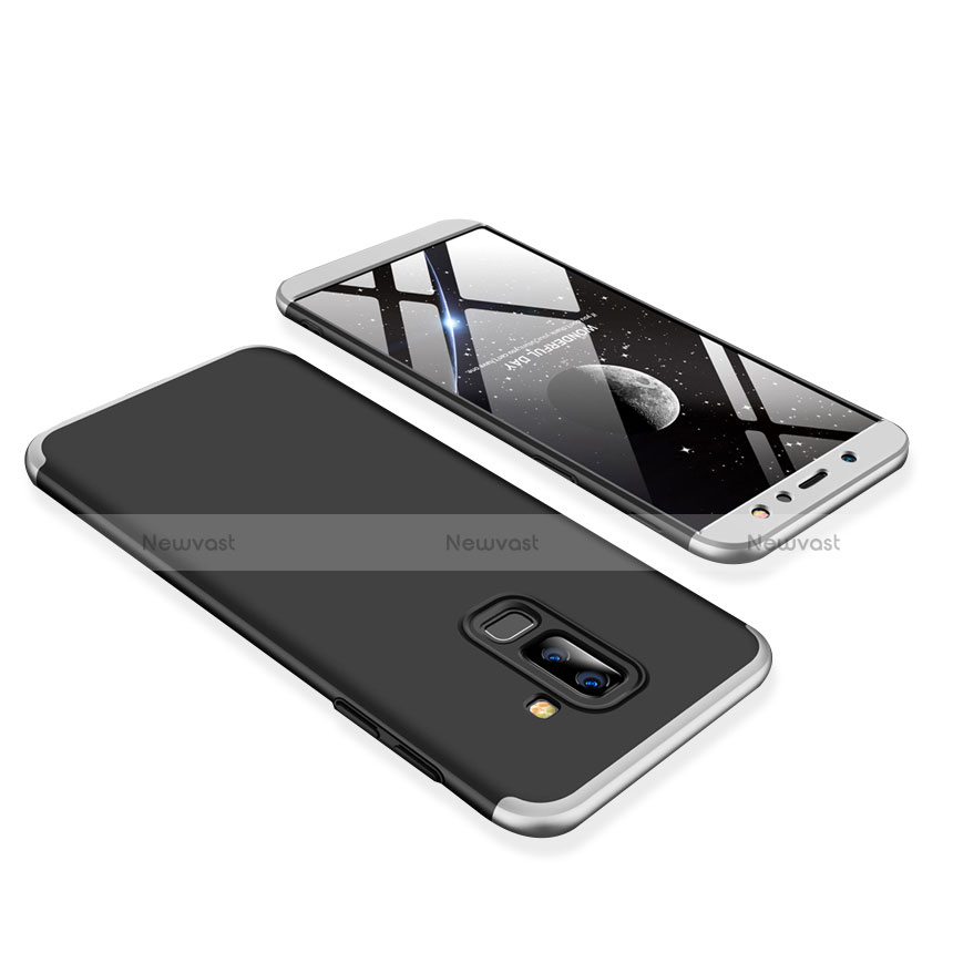 Hard Rigid Plastic Matte Finish Front and Back Cover Case 360 Degrees for Samsung Galaxy A9 Star Lite Silver
