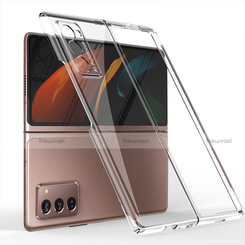 Hard Rigid Plastic Matte Finish Front and Back Cover Case 360 Degrees for Samsung Galaxy Z Fold2 5G