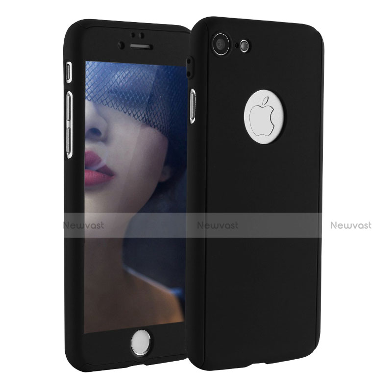 Hard Rigid Plastic Matte Finish Front and Back Cover Case 360 Degrees P01 for Apple iPhone SE (2020) Black