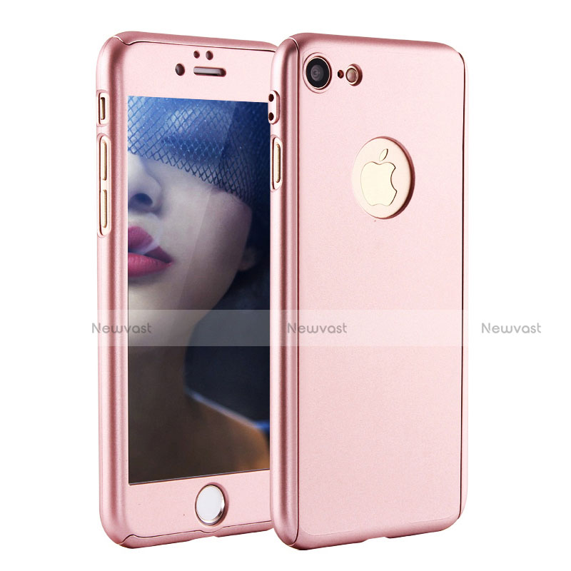 Hard Rigid Plastic Matte Finish Front and Back Cover Case 360 Degrees P01 for Apple iPhone SE (2020) Rose Gold