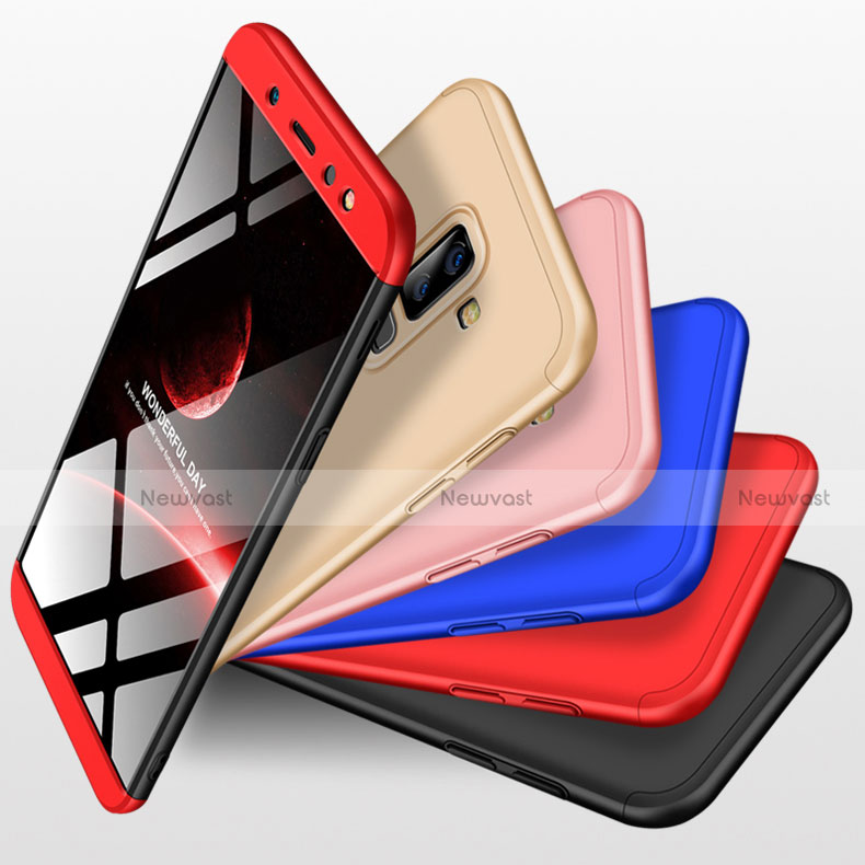 Hard Rigid Plastic Matte Finish Front and Back Cover Case 360 Degrees with Finger Ring Stand for Samsung Galaxy A9 Star Lite