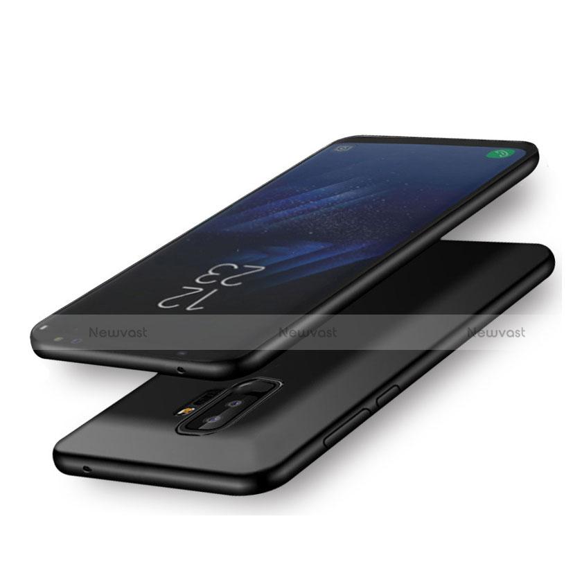 Hard Rigid Plastic Matte Finish Snap On Case for Samsung Galaxy A6 Plus Black
