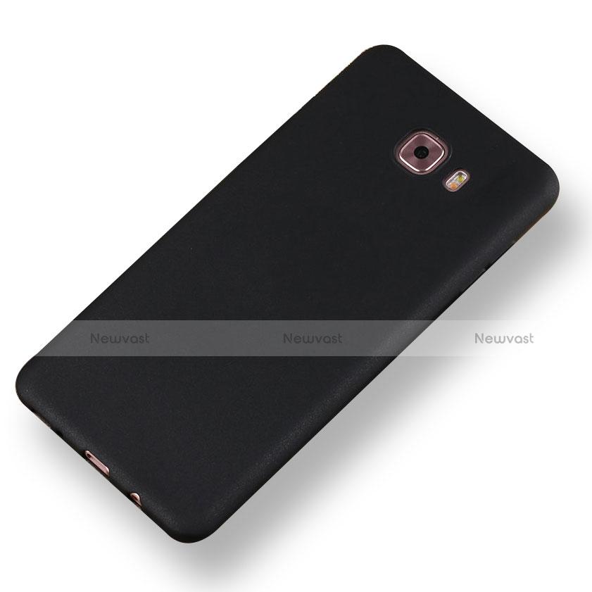 Hard Rigid Plastic Matte Finish Snap On Case for Samsung Galaxy A8 (2016) A8100 A810F Black