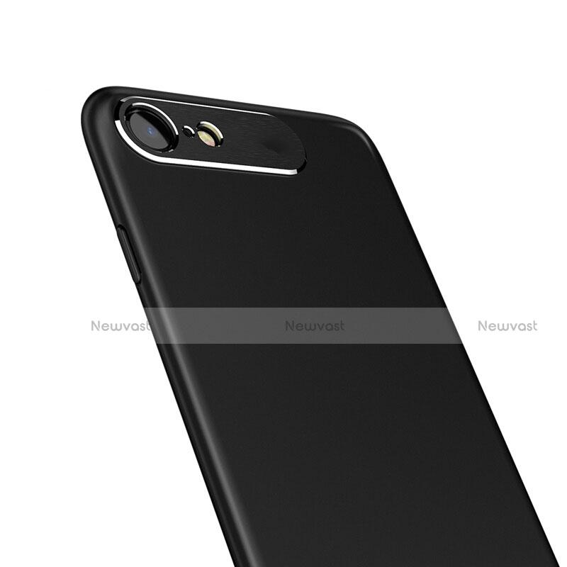 Hard Rigid Plastic Matte Finish Snap On Case M02 for Apple iPhone SE (2020) Black